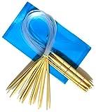18 Stück 2mm - 10mm, 60cm Rundstricknadeln aus Bambus