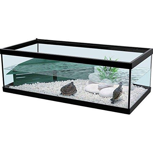Aquarium Tortum noir pour tortue avec filtre