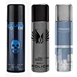 Police To Be Titanium Light Blue Deodorant Spray - For Men (600 Ml, Pack Of 3)