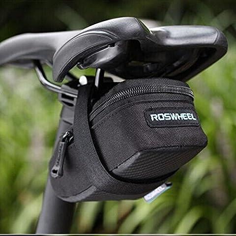 MaMaison007 ROSWHEEL bici bicicletta ciclismo sella sedile posteriore reggisella coda sacchetto sacchetto -m balck - Atletica Sedile