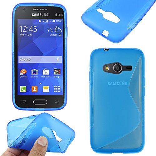 ebestStar - Compatibile Cover Samsung Galaxy Trend 2 Lite SM-G318H, Galaxy V Plus Custodia Protezione S-Line Design Silicone Gel TPU Morbida e Sottile, Blu [Apparecchio: 121.4 x 62.9 x 10.7mm, 4.0'']