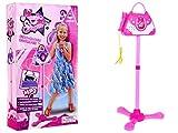 Microfono Karaoke per Bambini Giocatolo Microfono con Supporto e Amplificatore a Forma di Borsetta