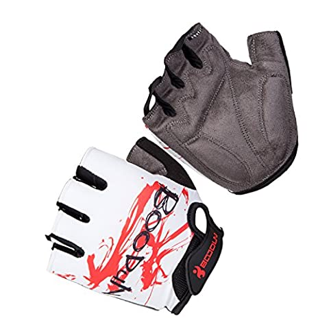 Asvert Cycling gloves Shock Absorbing Non Slip Abrasion Resistant Exercise Mitten Gloves Fingerless Jel Padded for Cross Training Gym Workout Exercise Cycling