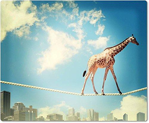 Tappetino per mouse/mouse pad in tessuto con retro in gomma antiscivolo per tutti i tipi (Giraffe Corda)