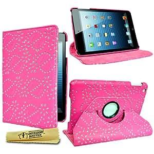 Accessory Master Etui en cuir avec Strass de diamants pour iPad Mini Rose