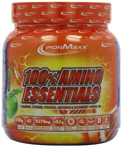 #Ironmaxx 100% Amino Essentials Green Apple, 1er Pack (1 x 550 g)#