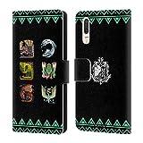 Head Case Designs Offizielle Monster Hunter World Alter Wald Ikonen Brieftasche Handyhülle aus Leder für Huawei P20
