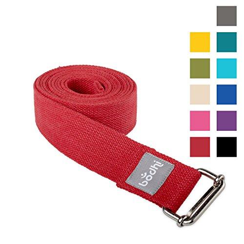 Yoga-Gurt ASANA BELT aus Baumwolle mit Schiebeschnalle aus Metall, praktisches Yoga-Zubehör, Basic Hilfsmittel nicht nur für Anfänger