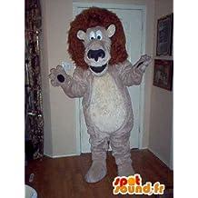 Mascota SpotSound Amazon personalizable que representa el rey de los animales, disfraz de león