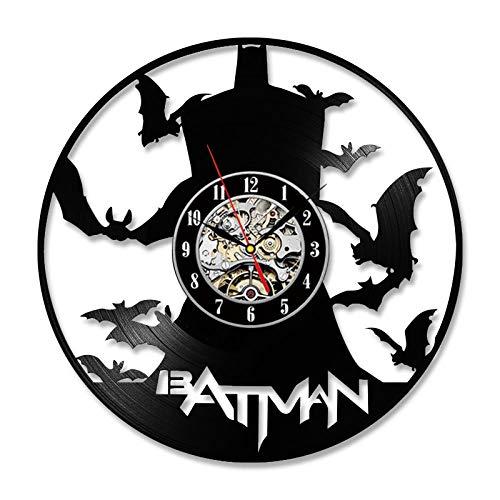 Batman Bad Blood Schallplatte Uhr Kreative Wandkunst Wohnkultur Antiken Stil Innenarchitektur Hängen LED-Licht Wand Clock-inWand (Howard Miller-wand-uhren)
