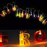 LED Lichterkette Weihnachtslichterkette Frohe Weihnachten Schriftzug Weihnachtsbeleuchtung
