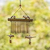 ExclusiveLane Bird Collection Wooden Handmade Decorative Hanging With Hand Burnt Design - Door Hanging Wind Chimes  Home Decoration Item