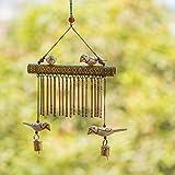 #1: ExclusiveLane Bird Collection Wooden Handmade Decorative Hanging With Hand Burnt Design - Door Hanging Wind Chimes  Home Decoration Item