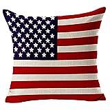 Ababalaya Home Platz Baumwolle Leinen Sofa Kissenbezüge dekorative Kissenbezüge amerikanischen Kanada Flagge mit Reißverschluss von Kenneth Fall,45*45 cm (Amerika)