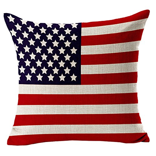 Ababalaya Home Platz Baumwolle Leinen Sofa Kissenbezüge dekorative Kissenbezüge amerikanischen Kanada Flagge mit Reißverschluss von Kenneth Fall,45*45 cm (Amerika) (Kanada Flagge Kissen)