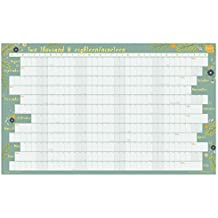 Boxclever Press 2018-2019 Academic Wall Planner Calendar Linear Format. Home Or Office Wall Chart. Runs August 2018 to July 2019. Available Laminated Or unlaminated. (Non-Laminate)