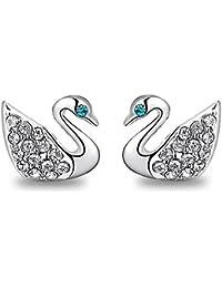 Silver Shoppee Silver Zirconia Alloy Stud Earrings for Women