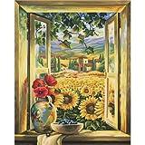 Schipper 609130405 - Malen nach Zahlen - Sonnenblumenfelder, 40x50 cm