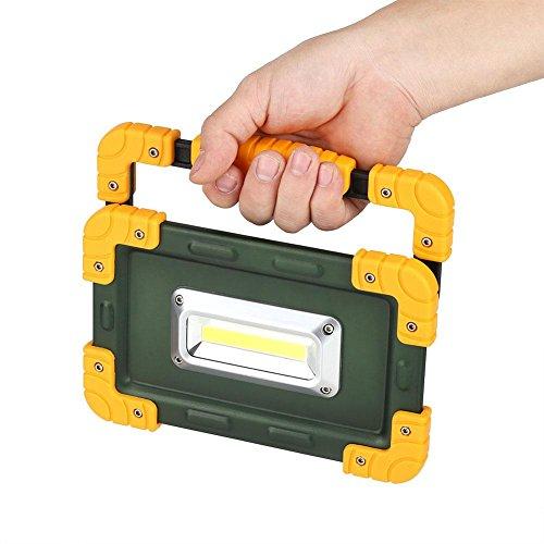 LED-Arbeitslicht-aufladbare kampierende Laterne, USB-KOPF LED-tragbares aufladbares Licht, wasserdichter Energien-Bank-tragbarer wandernde Notbeleuchtung im Freien