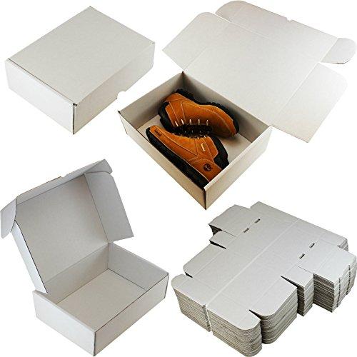 200x Weiß Boxen Paket Paket Versand & # x2606; Größe: 38,1x 27,9x 12,7cm (37,5x 27,5cm x 12,5cm)–Für: Schuhe Spielzeug Kleidung Kuchen Laptops Puppen Stiefel & # x2606;