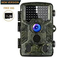 Caméra de Chasse, 16MP Aidodo Camera de Chasse 1080P HD 49 LED avec Accéléré 25m 120° PIR Grand Angle de Vision Nocturne Camouflage Invisible Observation Traque IR Caméra de Jeu