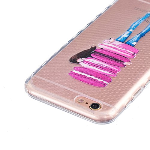 Ooboom® iPhone 8/iPhone 7 Hülle TPU Silikon Gel Handy Tasche Case Cover Flexibel Ultra Dünn für iPhone 8/iPhone 7 - Pinguin Hamburger