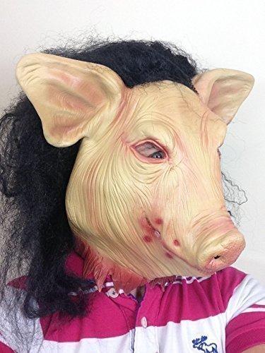 Unheimlich Jigsaw Schweine Maske Horror Sah Film Animal Kostüm Halloween Zubehör