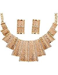 Shining Diva Party Wear Necklace Set / Jewellery Set With Earrings For Girls / Women