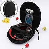 ELEGIANT Headset Schutztasche Kopfhörer Schutztasche Tasche Ohrhörer Tragetasche Aufbewahrungstasche Fallbeutel Headphone Earphone Case Box mit Karabiner für Sony V55 NC6 NC7 NC8