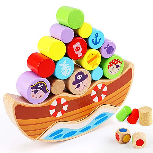 Juego de Equilibrio de Piratas de Madera