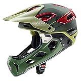 Uvex Jakkyl HDE MTB Fahrrad Helm grün/rot 2019: Größe: 52-57cm