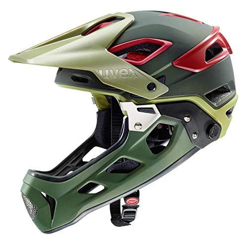 Uvex Jakkyl HDE MTB Fahrrad Helm grün/rot 2019: Größe: 56-61cm