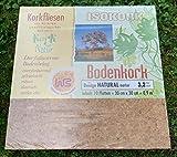 NEU Kork (30 x 30 x 3,2), Simplex, Korkboden, Wandkork, Bastelkork, Korkplatten, Fußboden, Dämmung, Unterlagskork (30 x 30 x 3,2)