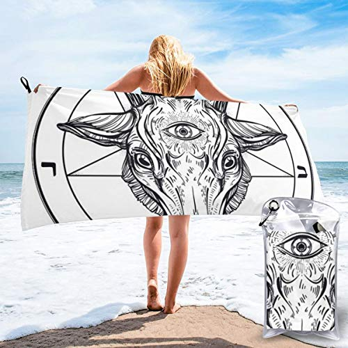 bikini bag Baphomet Satanic Goat Head Bath Swimming Pool Yoga Pilates Picnic Blanket Quick Dry Beach Towels 31.5