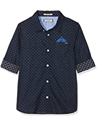 Scotch & Soda Blue Series Shirt with Roll-up Sleeves & Detachable Pocket S, Blusa para Niños