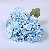 Lintimes 1mazzo di 5fiori artificiali ortensia seta bouquet di fiori finti decorazione per casa giardino matrimonio