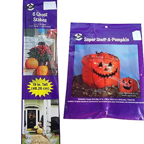 Holiday Decor Specialists Halloween-Dekoration für den Außenbereich, Kürbis-Blatt-Design, Geisterstäbchen