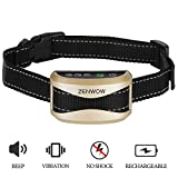 Dog Bark Collar,Zenwow Anti Bark Rechargeable Rainproof Training Collars with Sound and Vibration