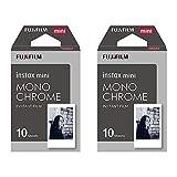 Instax Mini Monochrome (schwarz und weiß) Instant Film–20Shot Pack
