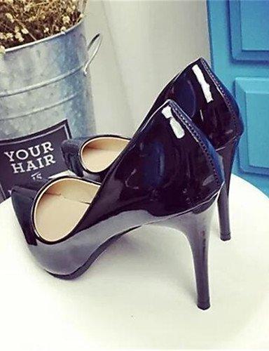 WSS 2016 Chaussures Femme-Habillé / Soirée & Evénement-Noir / Violet / Rouge / Blanc-Talon Aiguille-Talons-Talons-Similicuir red-us8 / eu39 / uk6 / cn39