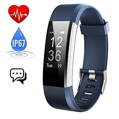 Fitness Tracker,Activity Tracker Watch with Heart Rate Monitor,IP67 Waterproof Smart Bracelet Step Counter Sleep Monitor Calorie Counter Pedometer Smart Watch GPS for Android and iOS Smartphones and Others - iPosible by iPosible