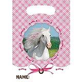 Party Tüten * Heart my Horse / Weißes Pferd * 8 Stück / ca. 16 x 23 cm