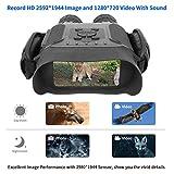 Bestguarder HD Digital Nachtsichtgerät mit 32G Speicherkarte NV-900 4.5X40mm Fernglas mit Zeitraffer Funktion Nimmt HD Bild und 720p Video mit 4'LCD Widescreen von 400m / 1300ft in Dunkelheit