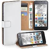 MoEx Huawei G510 | Hülle Weiß mit Karten-Fach [OneFlow 360° Book Klapp-Hülle] Handytasche Kunst-Leder Handyhülle für Huawei Ascend G510 Case Flip Cover Schutzhülle Tasche