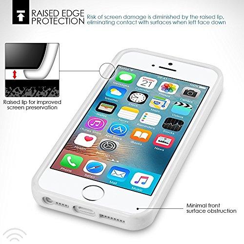 iPhone SE Zubehör, Terrapin TPU Schutzhülle Tasche Case Cover für iPhone SE Hülle Transparent Pink Weiß