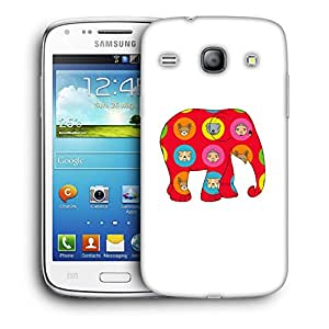 Snoogg Red Elephant Designer Protective Back Case Cover For Samsung Galaxy Core