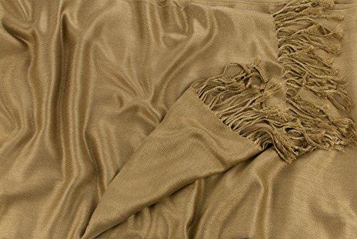 Solides secondes couleur châle pashmina enveloppe d'écharpe Châles Pashminas Foulards (60+ couleurs) Beige mode