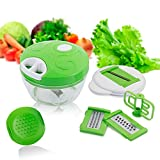 6 en 1 Mandolina Cortador de Verduras, Yidaxing Picadora de Alimentos Manual para Picar vegetales,...
