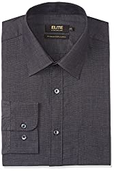 Peter England Mens Formal Shirt (8907495188263_ISF1041601110_40_BlackSolid)
