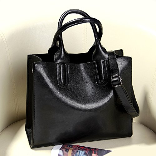 Sprnb Semplice Tutti-Match Borsa Borse Crossbody Bag,Marrone Black